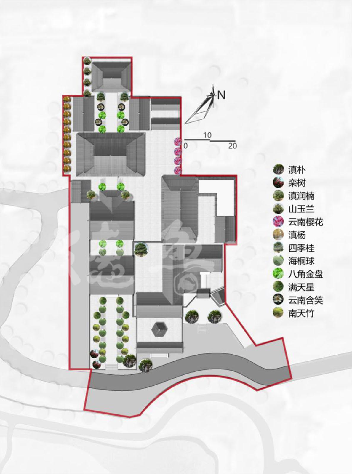 云南腾冲华严寺总体规划设计-寺院规划-北京德鲁安