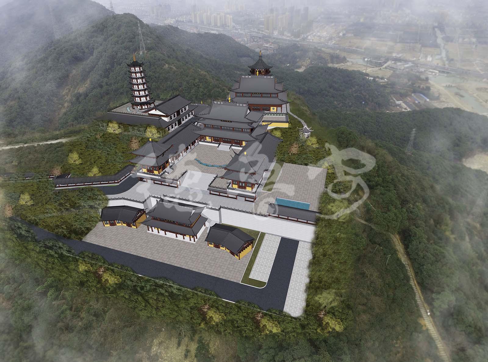 浙江杭州先照寺总体规划设计-寺院规划-北京德鲁安