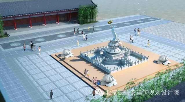 滑台大云寺莲花雕塑-景观设计-北京德鲁安建筑规划
